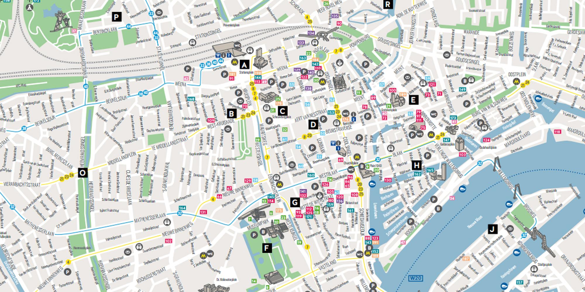 City Map Rotterdam Tourist Information